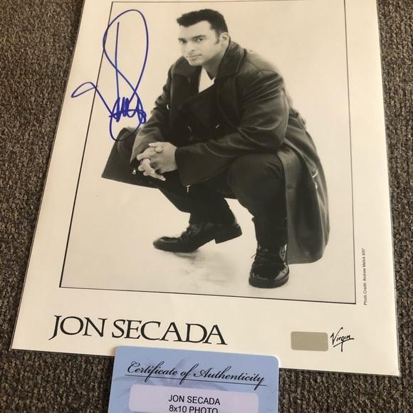 Autographed Jon Secada picture